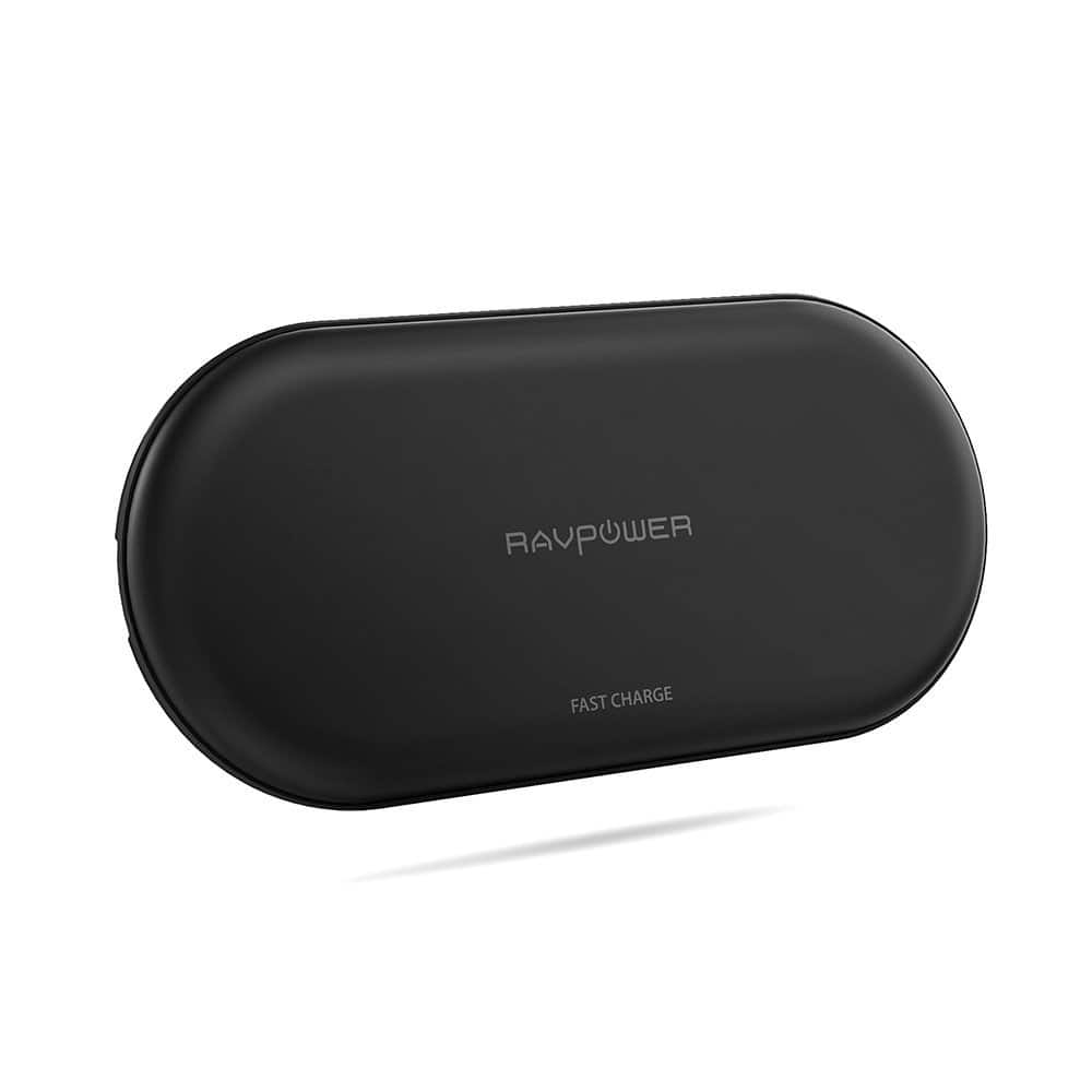 RAVPower QI Fast Wireless Charger with 4 Coils  (QC 3.0 Adapter Included) $32.99 + FSSS