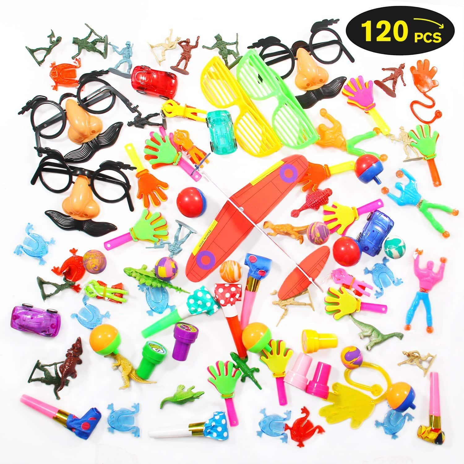 Geekper 120-Piece Pack Party Favors Toy $7.99 AC + FSSS