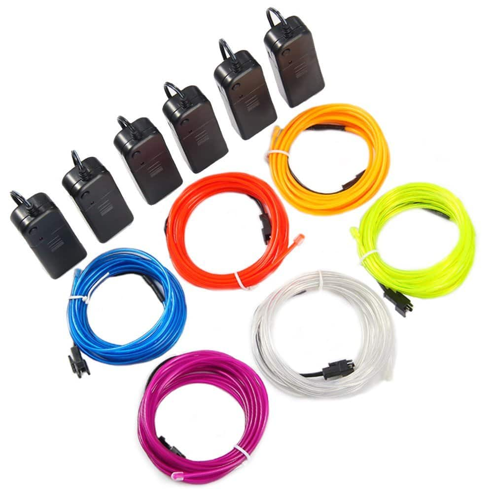6-Pack of 10\' Theefun TSF EL Wire Portable Neon Lights (DIY ...