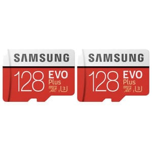 2-Pack Samsung 128GB EVO Plus Class 10 Micro SDXC with Adapter (MB-MC128GA) $61.95 + FS