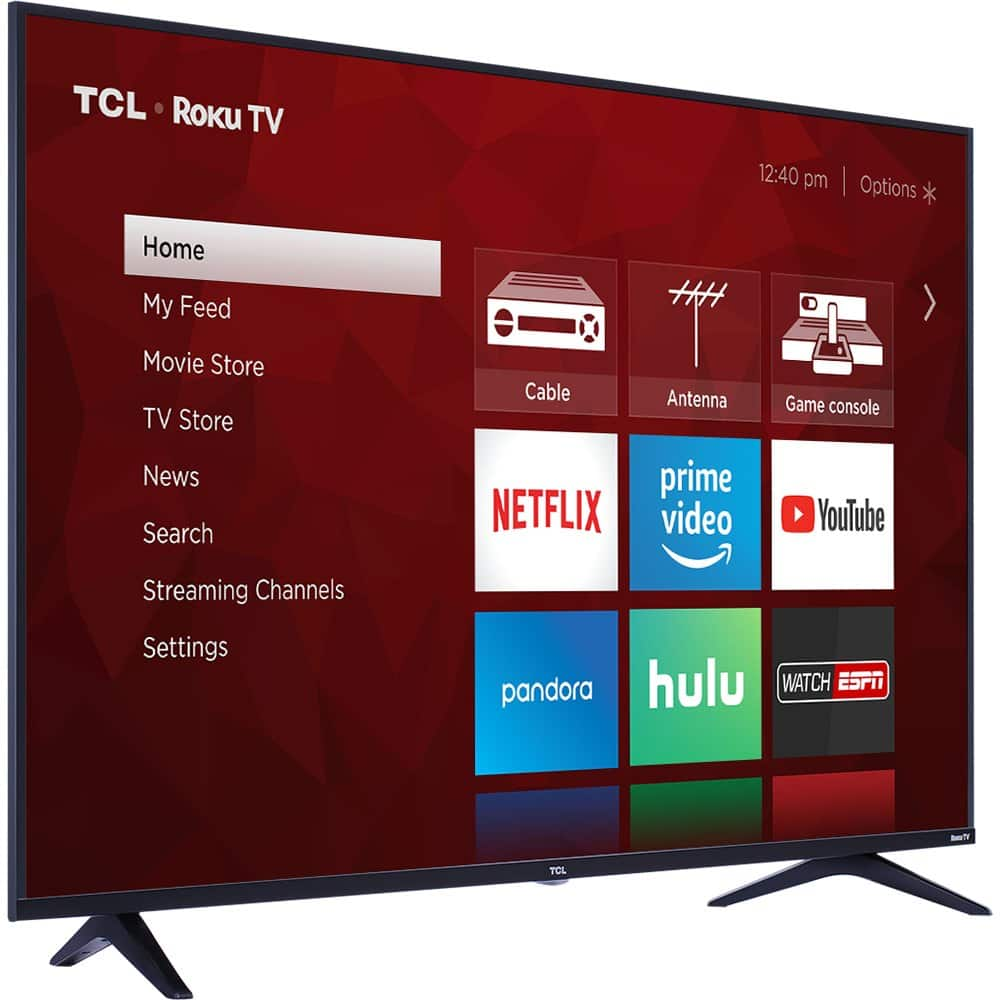 TCL 55S517BUN 55-Inch 4K Ultra HD Roku Smart LED TV w/ Mount (2018 Model) $434.99 + Free Shipping