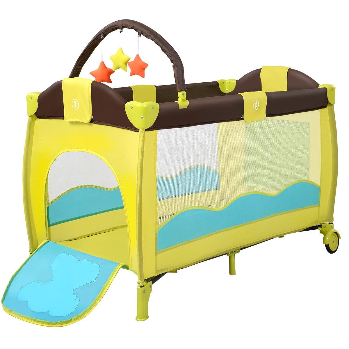 Costway Foldable Baby Crib Baby Bed Playpen Play Yard $53.95 + Free Shipping