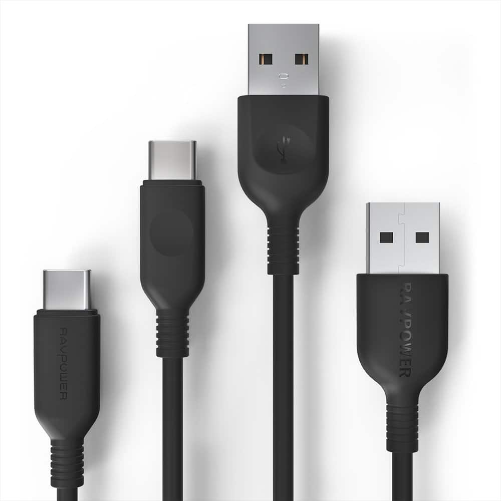 2-Pack RAVPower USB C to USB A Charger (3ft, 6ft) for $5.94 + FSSS
