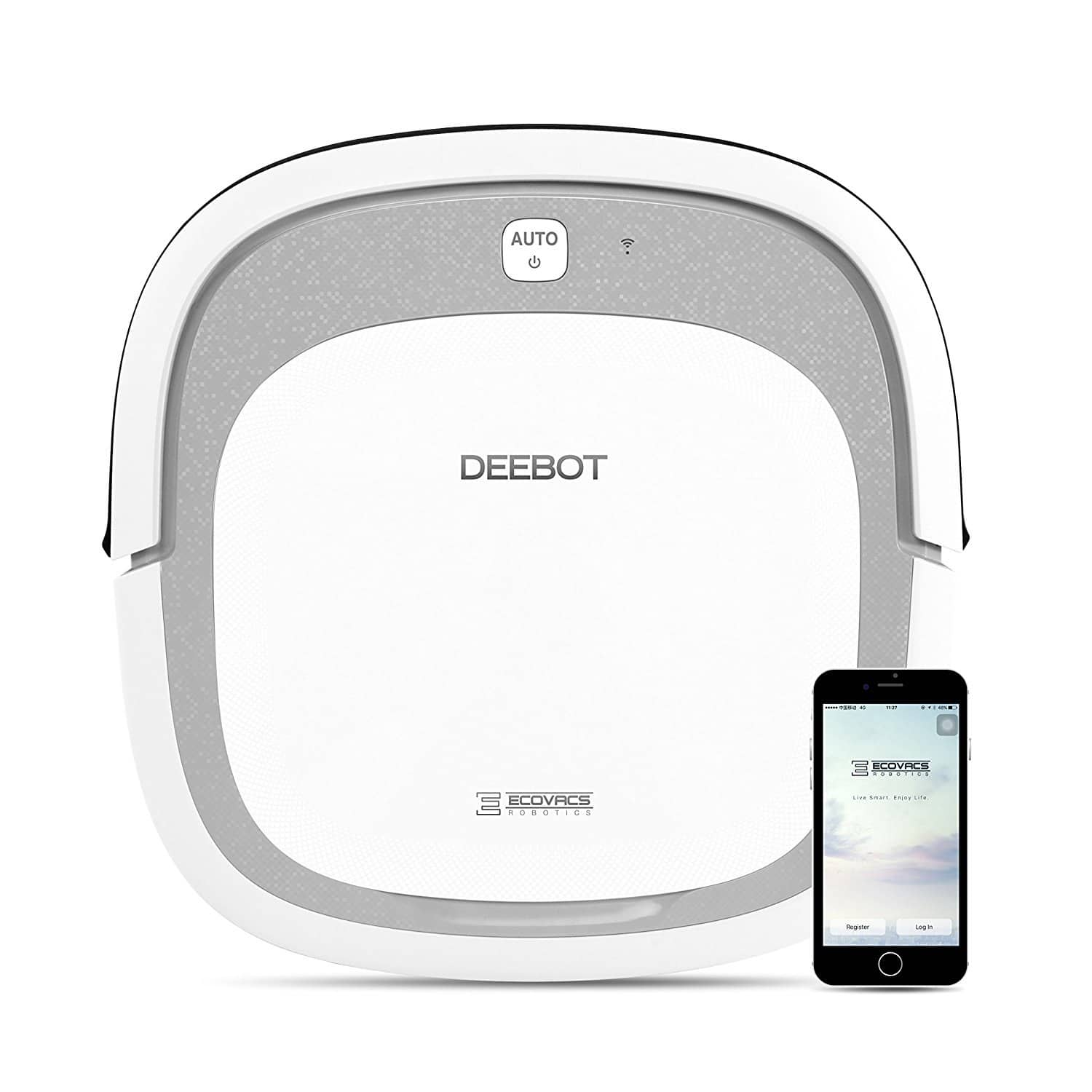 ECOVACS DEEBOT Slim2 WiFi Bare Floor Robotic Vacuum Cleaner with Dry Mopping $127.45 AC + FS