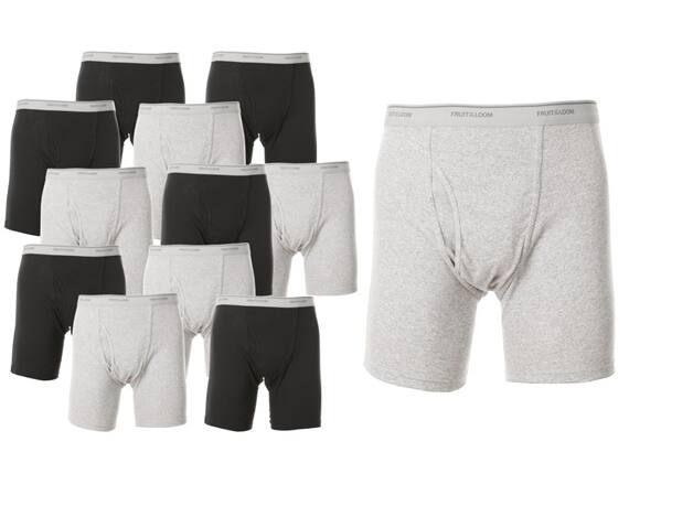 Fruit of The Loom Men's Boxer Briefs 12-Pack - $25.99 with Free shipping for Prime members