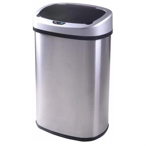 13-Gallon Touch-Free Sensor Automatic Stainless Steel Trash Can - $29.99 + Free Shipping