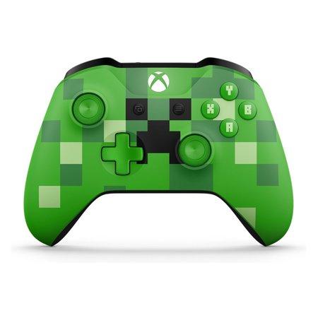 Microsoft Xbox One Wireless Controller, Minecraft Creeper $40 + Free S&H