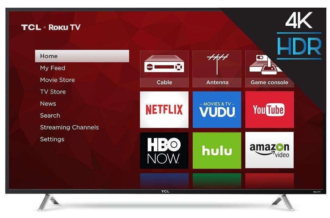 "TCL 55S405 55"" 4K Ultra HD Roku Smart LED TV (2017 MODEL): $339.99 AC + Free Shipping"