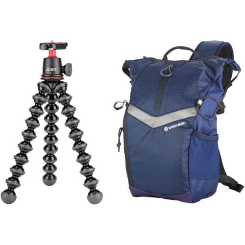 Joby Gorillapod 3K Flexible Mini-Tripod with Ball Head and Vanguard Reno 34 DSLR Sling Bag (Blue) Kit $59.95 Shipped