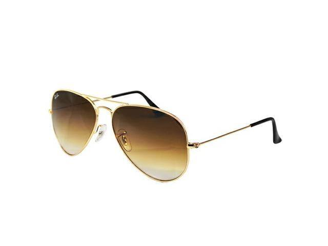 fa4492e996e0 Ray Ban RB3025 Aviator Gradient Metal Sunglasses - Gold Frame Brown Lenses   60 Shipped