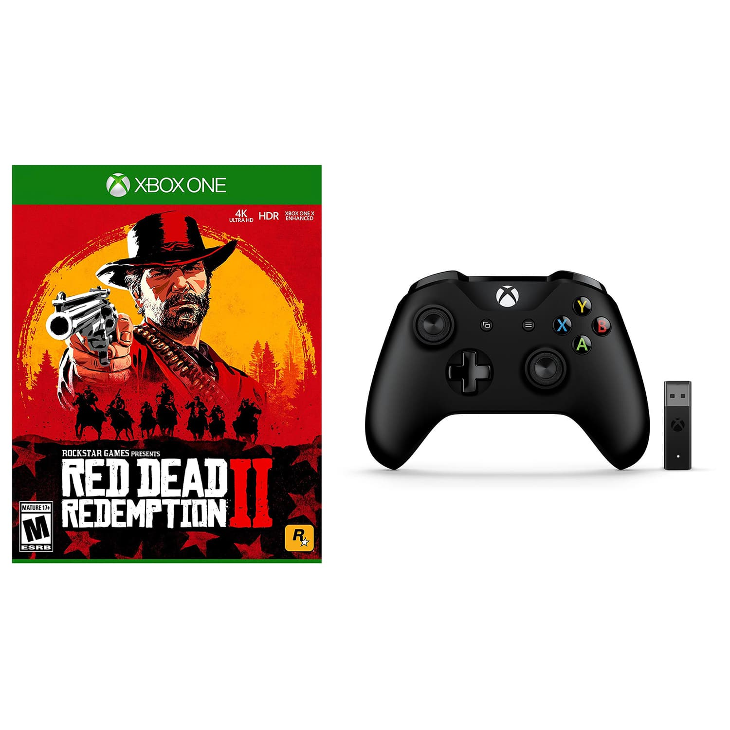 Xbox One Red Dead Redemption 2 and Wireless Controller with
