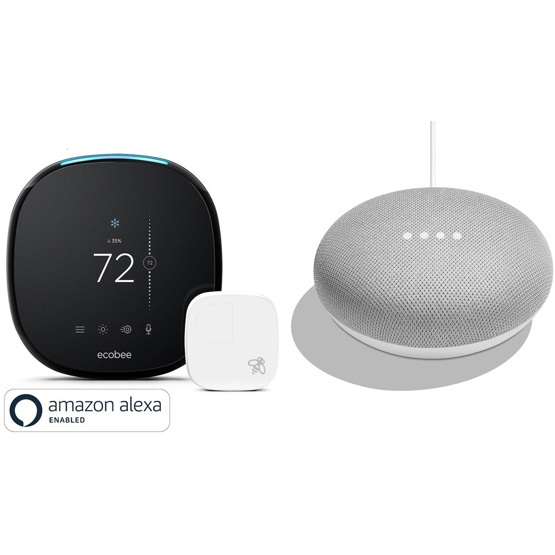 Ecobee4 Wifi Thermostat Room Sensor With Alexa Amp Google