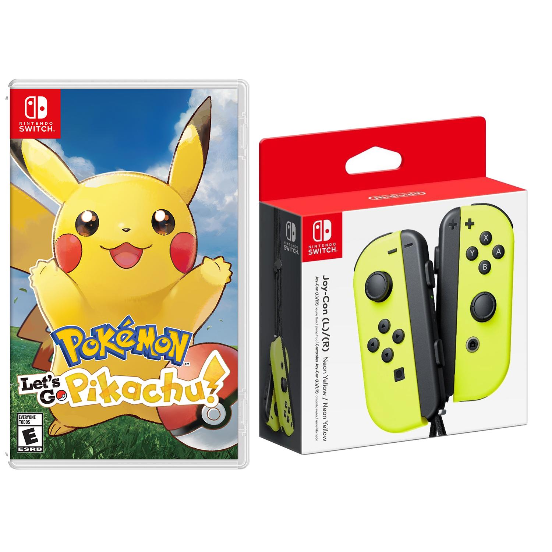 Nintendo Switch Pokemon Let S Go Pikachu Eevee And Joy Con