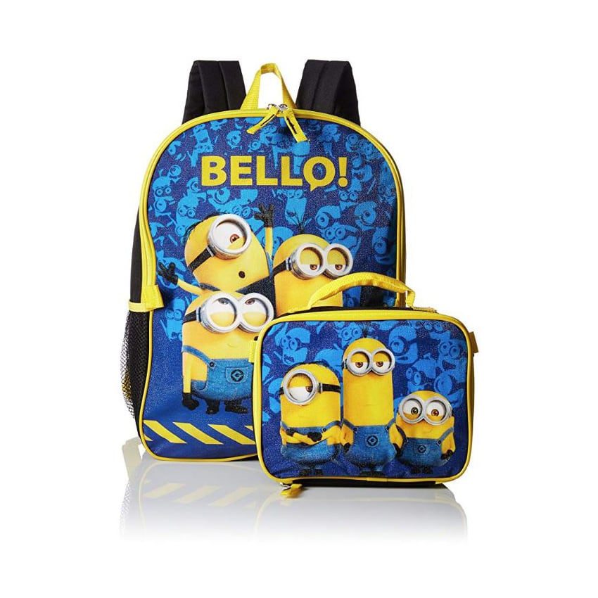 """16"""" Licensed Backpack [DC Comics Justice League/Despicable Me Minions] & Lunch Bag Bundle - $9.99 + Free Shipping"""