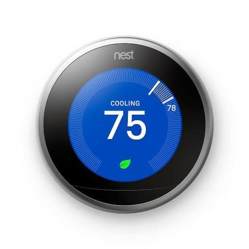 Nest Learning Thermostat 3rd Generation Smart Home with Wifi Remote Control Stainless Steel - $167.99 + Free Shipping