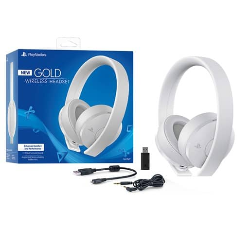 Sony PlayStation Gold Wireless Headset 7.1 Surround Sound PS4 New Version 2018 - White $74.99 + Free Shipping