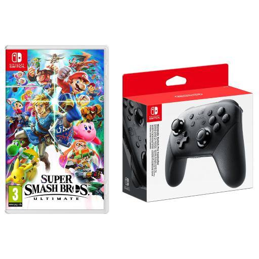 Super Smash Bros. Ultimate + Nintendo Pro Controller Bundle - $101.99 + Free Shipping
