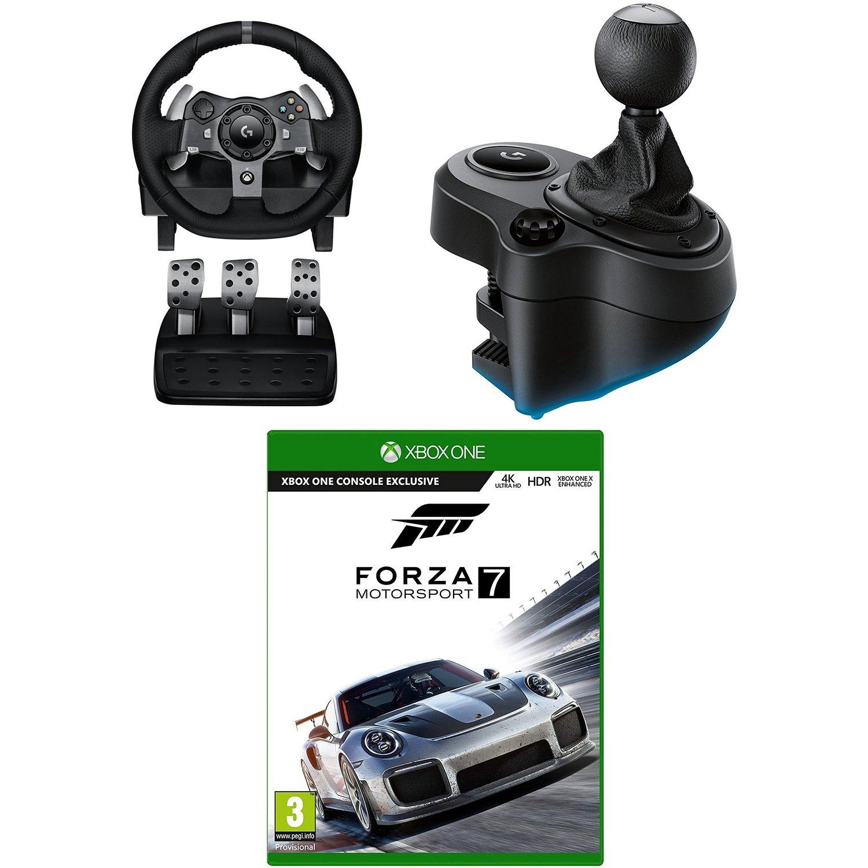 c50b7f34f7d Logitech G920 Driving Force Racing Wheel + Shifter Bundle + Forza 7 ...