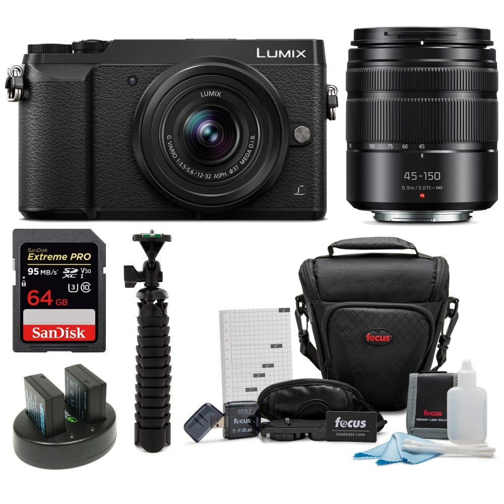 Panasonic DMC-GX85WK 4K Mirrorless Camera with 12-32mm and 45-150mm Lens Bundle- $497.99 Shipped
