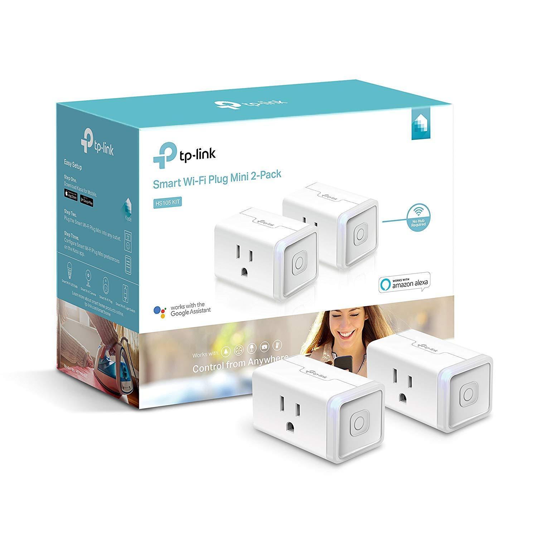 Kasa Smart by TP-Link WiFi Plug Mini - 2 Pack (HS105 KIT) $29.99 AC + FSSS