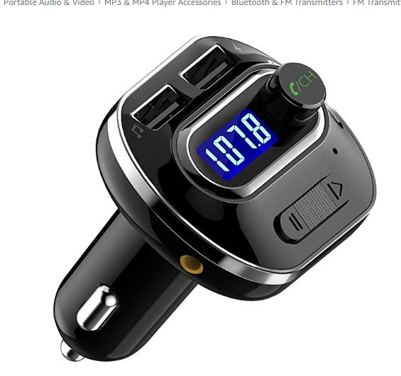 VicTsing (Upgraded Version) V4 1 Bluetooth FM Transmitter