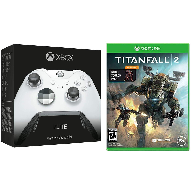 Microsoft Xbox One Elite Platinum White [LE] or Black Wireless Controller & Titanfall 2 with Nitro DLC Bundle - $124.95 + Free Shipping