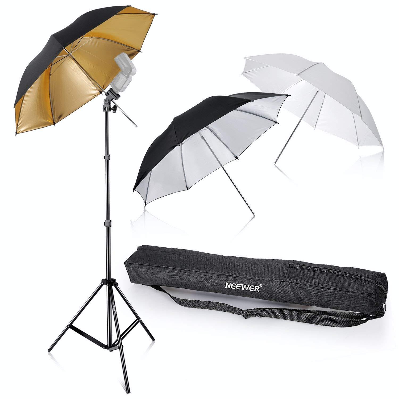 "Neewer Reflective Flash Umbrella Kit (33"" White/Silver/Gold) - $26.85 + FSSS"