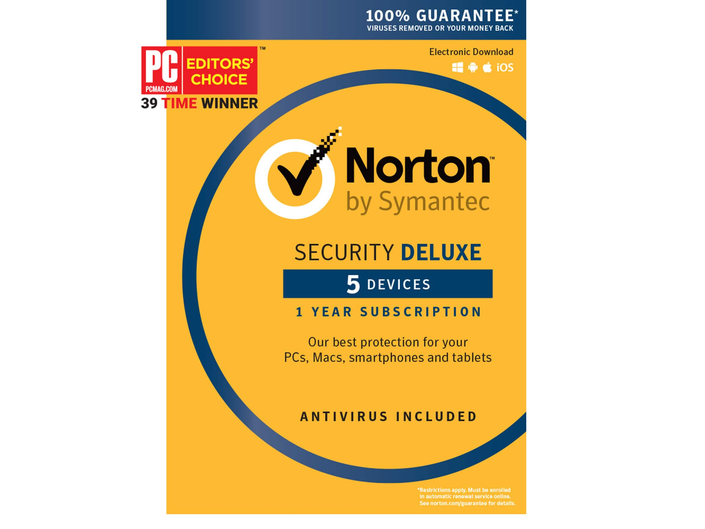 Symantec Norton Security Deluxe 5 Devices $17.99 AC + Free Shipping