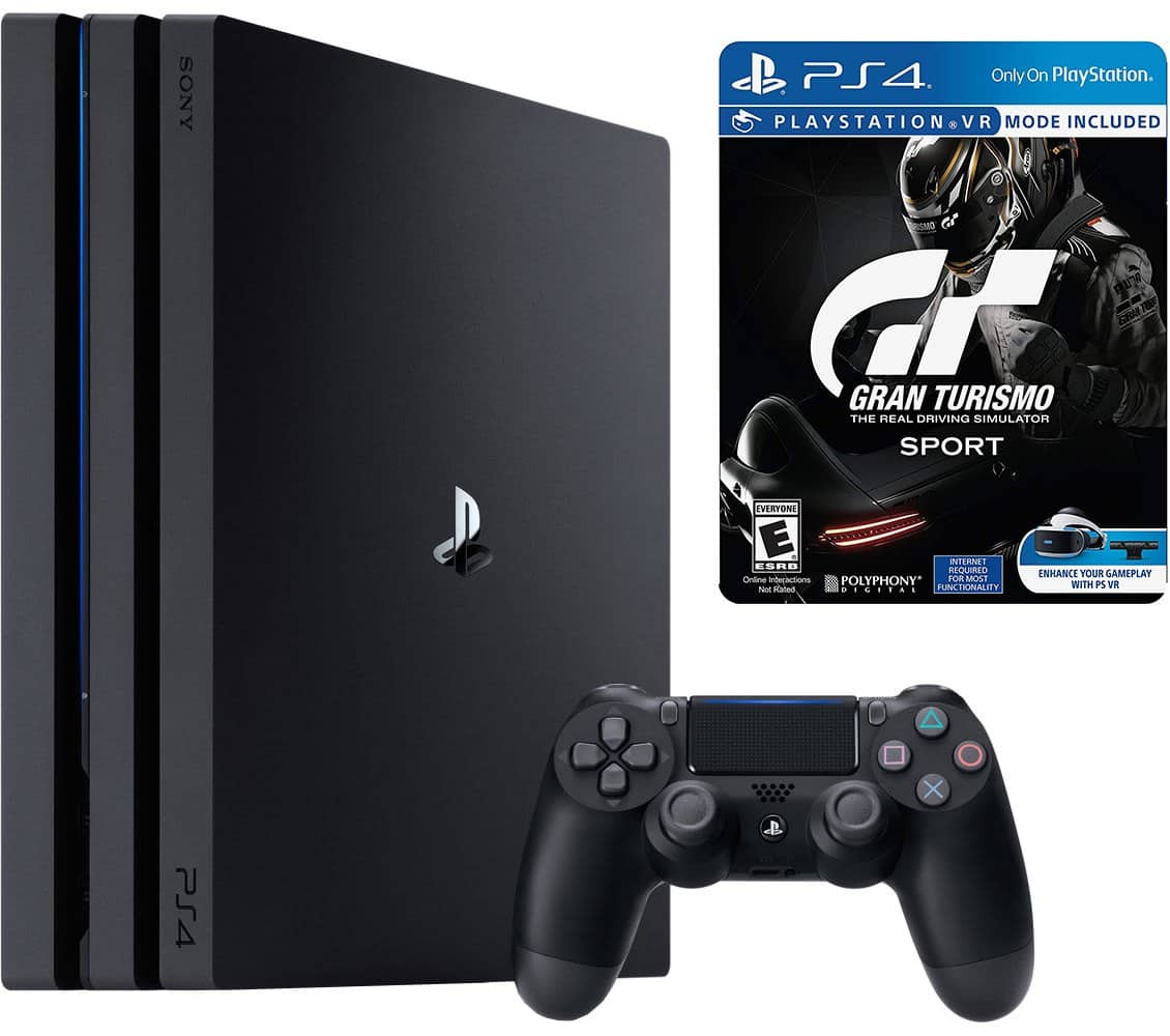 sony playstation 4 pro 1tb and gran turismo sport limited. Black Bedroom Furniture Sets. Home Design Ideas