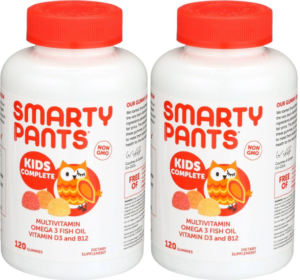 SmartyPants Children's All-in-One Multivitamin Plus Omega-3 Plus Vitamin D, 120-COUNT (Pack of 2) - $24.99