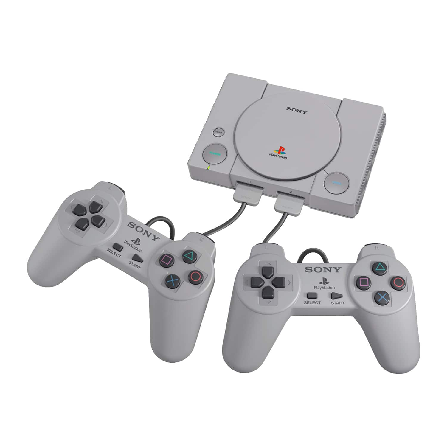 Sony PlayStation Classic Console (20 Pre-Installed Games) & 2
