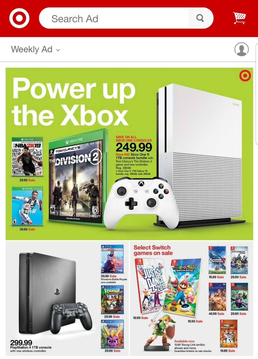 (Starts 04/14 @ Target) Xenoblade Chronicles 2 (Switch) $20, Mario Rabbid (Switch) $20