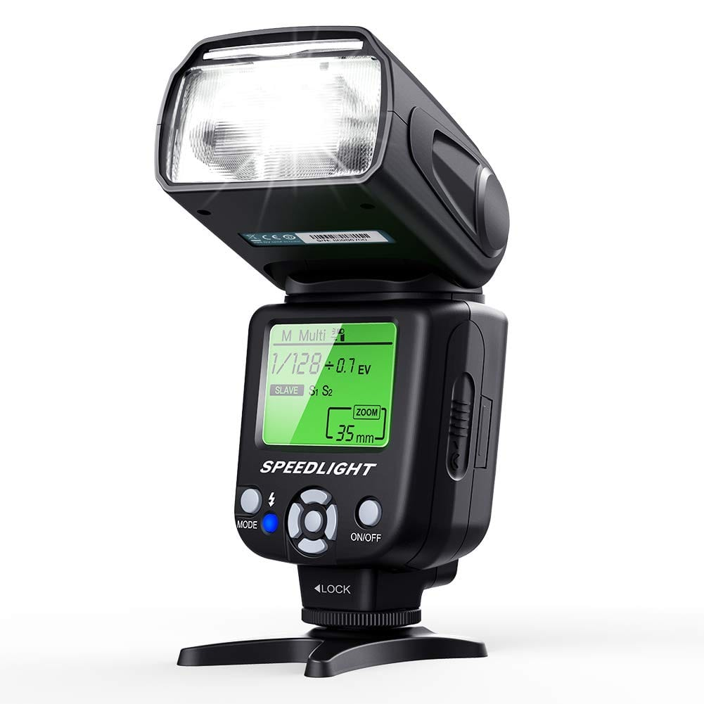 ESDDI Flash Speedlite for DSLR Cameras with Standard Hot Shoe, Exposure Controllable, Rotatable for $23.71 + FSSS