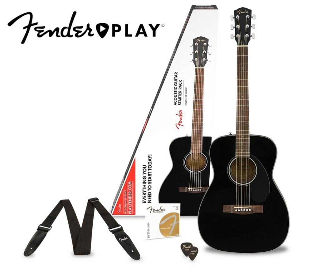 Fender CC-60S Guitar Pack: $92.65 AC + FS