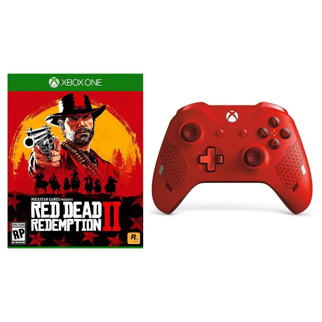 Red Dead Redemption 2 and Microsoft Xbox One Sport Red Wireless Controller - $74.99 + FS
