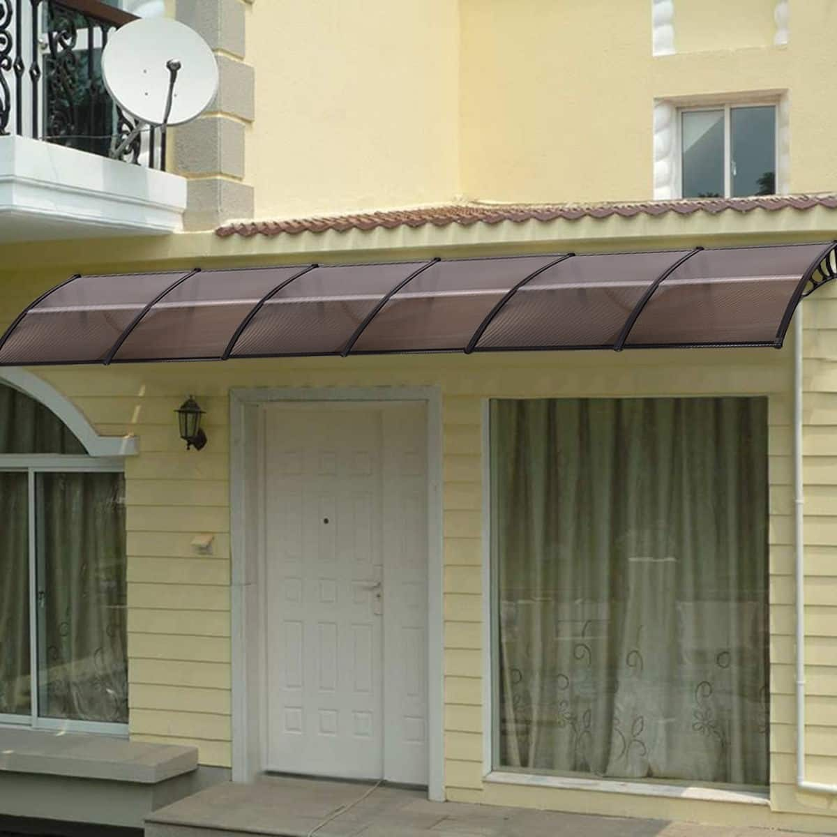 "Costway 40"" x 40"" Outdoor Polycarbonate Front Door Window Awning Canopy - $39.95 + Free Shipping"