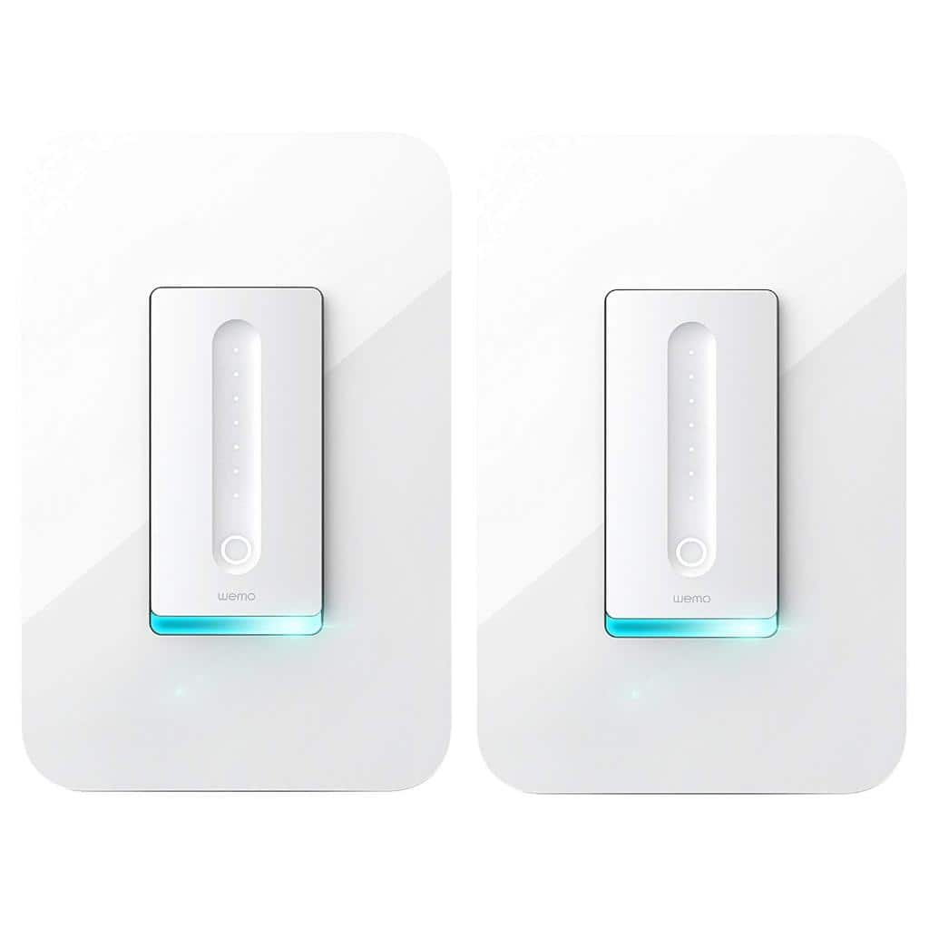 2-Pack Wemo Dimmer WiFi Light Switch, Works with Alexa, the Google Assistant and Apple HomeKit (F7C059) $79.99 + Free Shipping