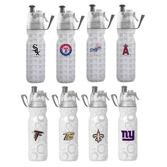 O2COOL ArcticSqueeze Insulated Mist 'N Sip Water Bottle with Mister MLB or NFL - 2-Pack $13.99 + FS