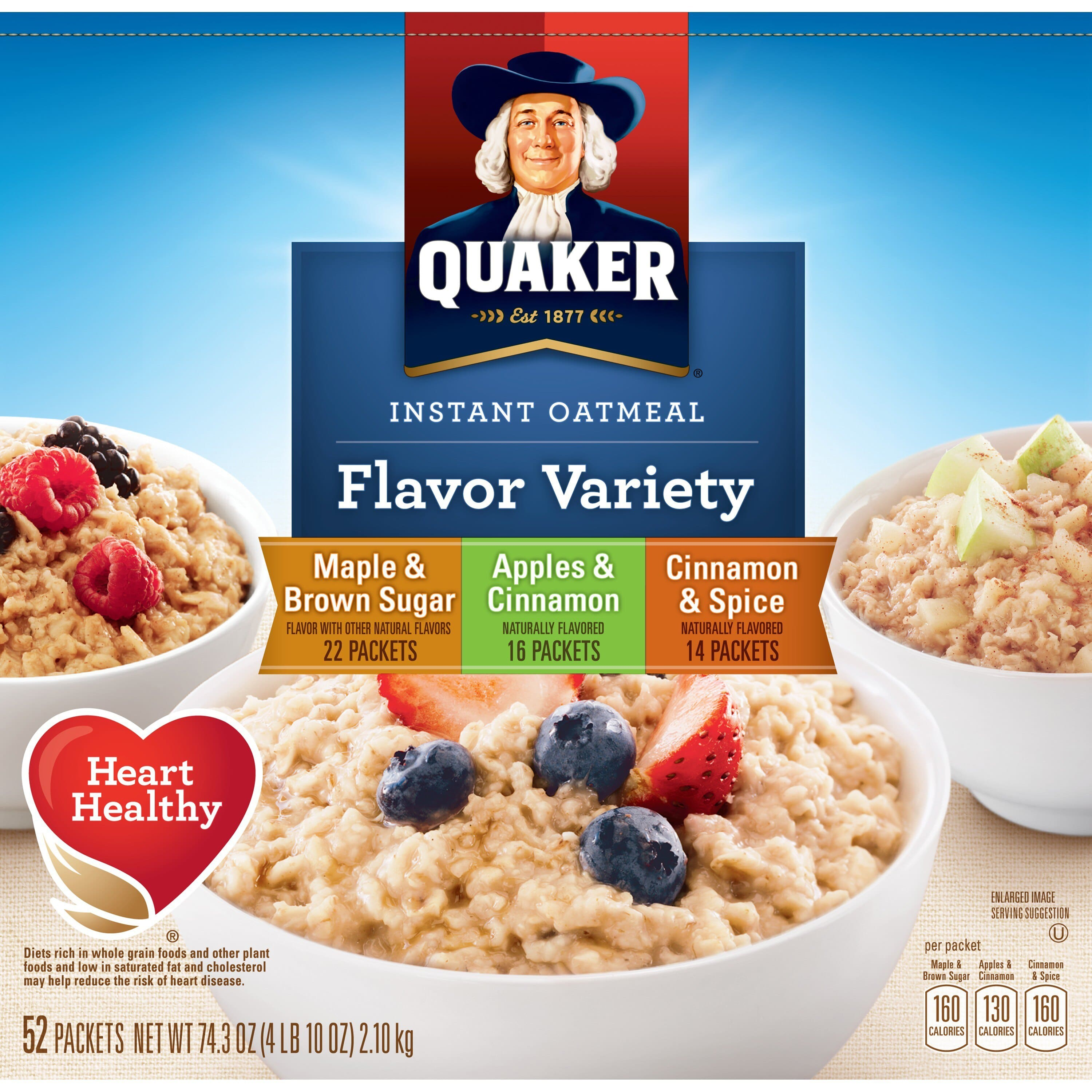 20% off Quaker Foods + Free Ship.  Includes Instant Oatmeal, Granola Bars, Breakfast Cereal, and More
