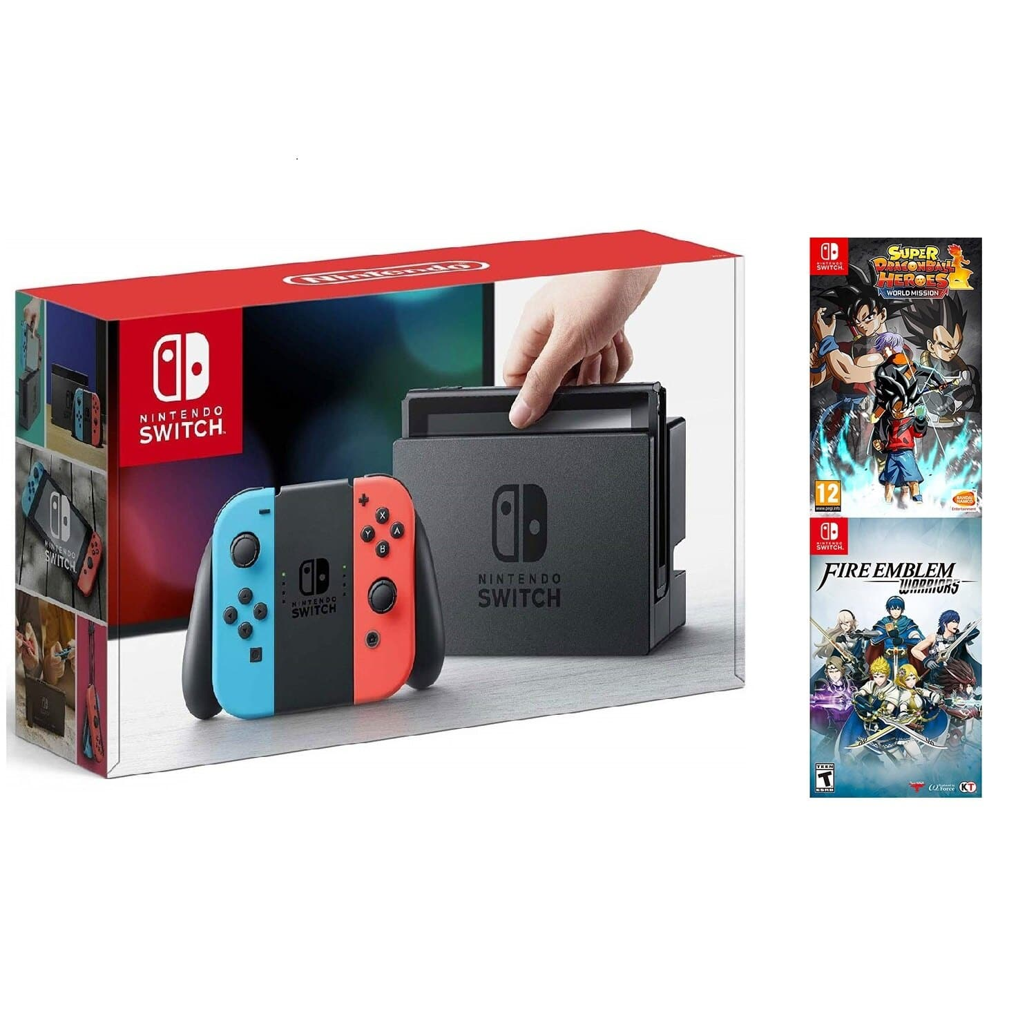 Nintendo Switch Neon Console + Fire Emblem Warriors & Dragon Ball Heroes : $319.99 AC + Free Shipping