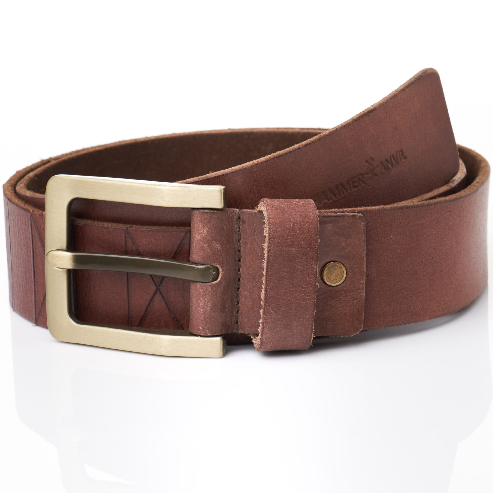 Hammer Anvil Mens Leather Belt : $11.99 AC + Free Shippng