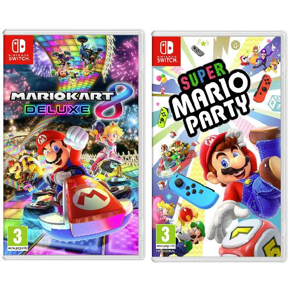 Mario Kart 8 Deluxe / Super Mario Party for Nintendo Switch Video Game $42.49 + Free Shipping