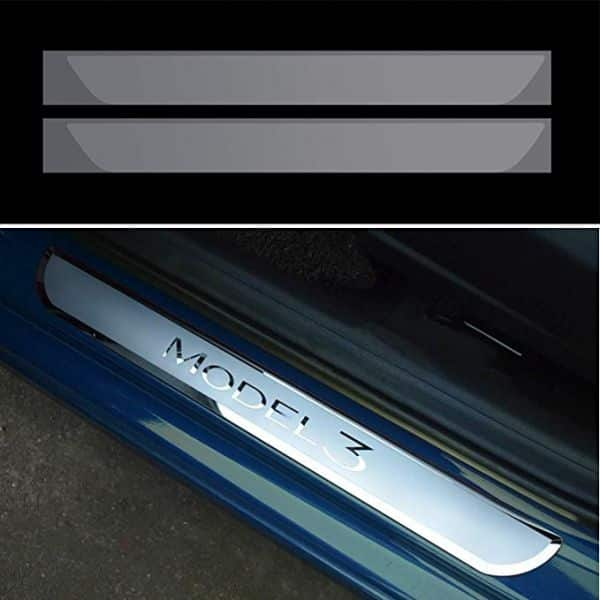 TESLA MODEL 3 Door Sill Protector clear Wrap Kit 2-Piece for $8.99 + Free Shipping