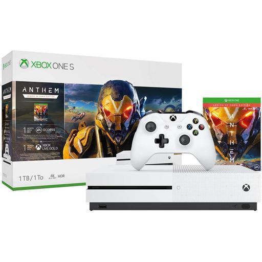 Microsoft Xbox One S 1TB Console Anthem: Legion of Dawn Edition Gaming Bundle - $208.99 + FS