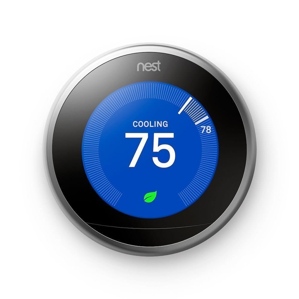 Nest Thermostat 3rd generation (Stainless Steel) : $170 AC + FS