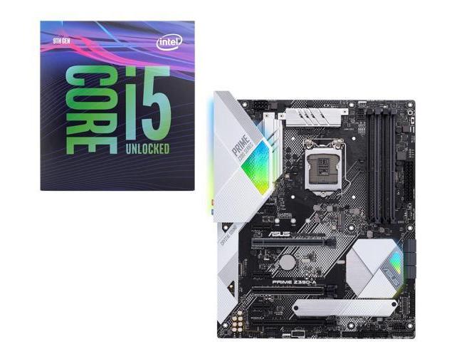 Intel i5-9600K  Desktop Processor CPU + ASUS Prime Z390-A Intel Z390 Motherboard $369.98 Shipped