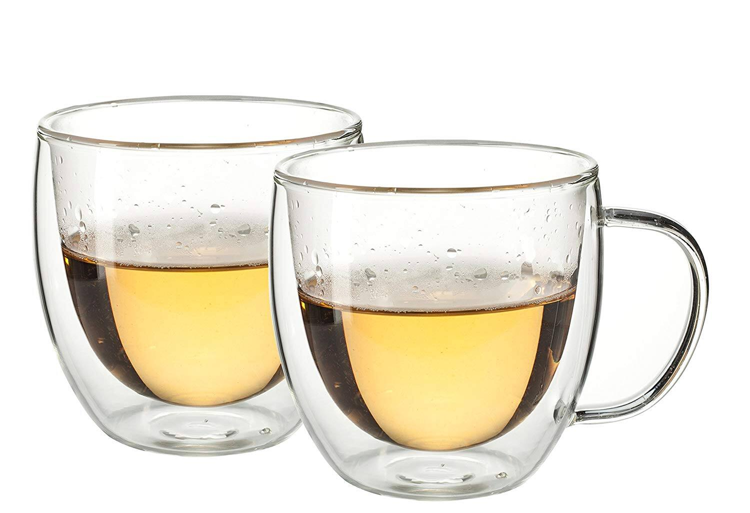 Eravino 5.4oz/160ml Double Wall Insulated Coffee or Tea Glass Cup – Set of 2 Thermo Glasses (160ml) for $9.95 + FSSS