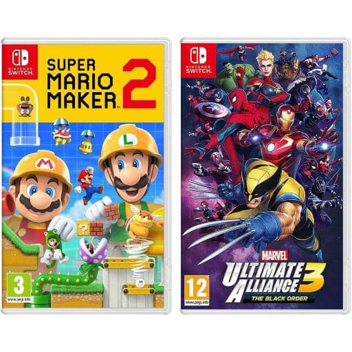 Super Mario Maker 2 + Marvel Ultimate Alliance 3: The Black
