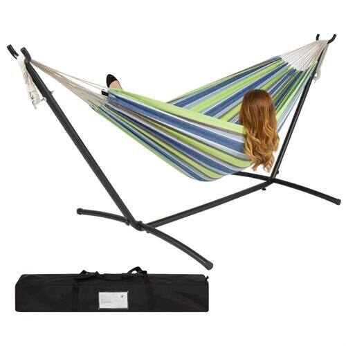 Double Hammock w/ Steel Stand and Carrying Case : $47.99 AC + FS