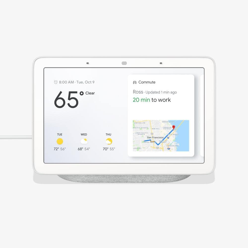 Google Home Hub - Smart Home Controller with Google Assistant (Chalk or Charcoal) : $58.98 AC + FS